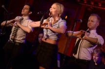 Steffanie Leigh with Barrett Davis and Josh Asor performing at 54 Below