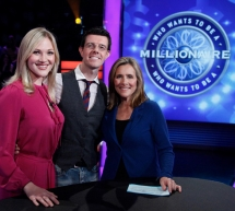 "Steffanie Leigh and Gavin Lee with Meredith Viera on ""Millionaire"""